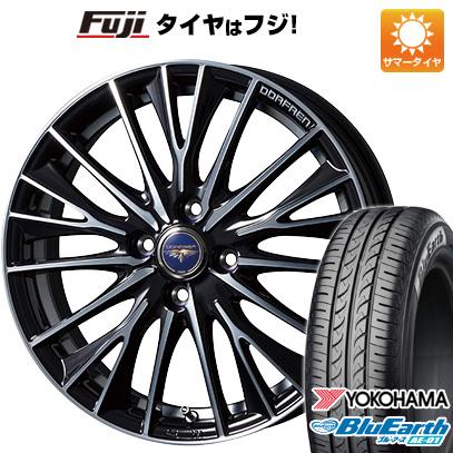 タイヤはフジ 送料無料 TOPY トピー ドルフレン デルディオ 6J 6.00-16 YOKOHAMA ブルーアース AE-01 175/60R16 16インチ サマータイヤ ホイール4本セット