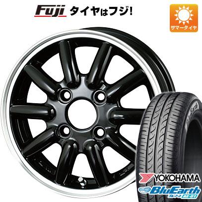 タイヤはフジ 送料無料 ALGERNON アルジェノン フェニーチェ RX-1 4.5J 4.50-14 YOKOHAMA ブルーアース AE-01 165/55R14 14インチ サマータイヤ ホイール4本セット