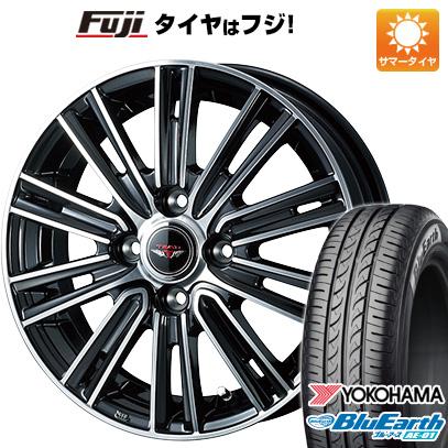 タイヤはフジ 送料無料 ソリオ(MA36S) WEDS ウェッズ テッドスナップ 4.5J 4.50-15 YOKOHAMA ブルーアース AE-01 165/65R15 15インチ サマータイヤ ホイール4本セット
