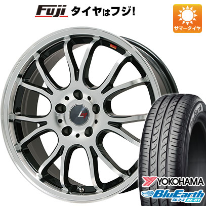 タイヤはフジ 送料無料 N-BOX タントカスタム ワゴンR LEHRMEISTER ヴァッサーノ(ブラックポリッシュ) 4.5J 4.50-14 YOKOHAMA ブルーアース AE-01 155/65R14 14インチ サマータイヤ ホイール4本セット