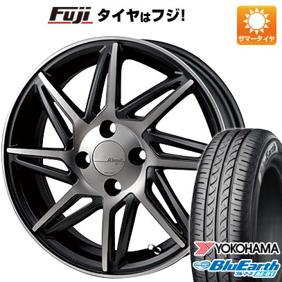 タイヤはフジ 送料無料 MONZA モンツァ ワーウィック レボックス 4.5J 4.50-15 YOKOHAMA ブルーアース AE-01 165/60R15 15インチ サマータイヤ ホイール4本セット