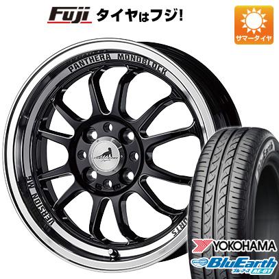タイヤはフジ 送料無料 N-BOX タントカスタム ワゴンR 5ZIGEN ゴジゲン パンテーラ バージョンM6 5J 5.00-15 YOKOHAMA ブルーアース AE-01 165/55R15 15インチ サマータイヤ ホイール4本セット