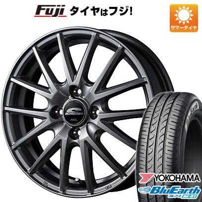 タイヤはフジ 送料無料 MID シュナイダー SQ27 4.5J 4.50-15 YOKOHAMA ブルーアース AE-01 165/55R15 15インチ サマータイヤ ホイール4本セット