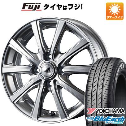 タイヤはフジ 送料無料 INTER MILANO インターミラノ AZ-SPORTS YL-10 4J 4.00-13 YOKOHAMA ブルーアース AE-01 155/70R13 13インチ サマータイヤ ホイール4本セット
