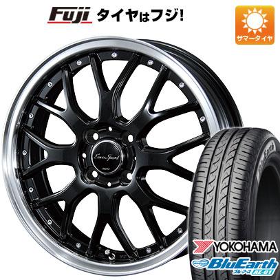 タイヤはフジ 送料無料 BLEST ブレスト ユーロスポーツ タイプ815 5.5J 5.50-15 YOKOHAMA ブルーアース AE-01 175/60R15 15インチ サマータイヤ ホイール4本セット