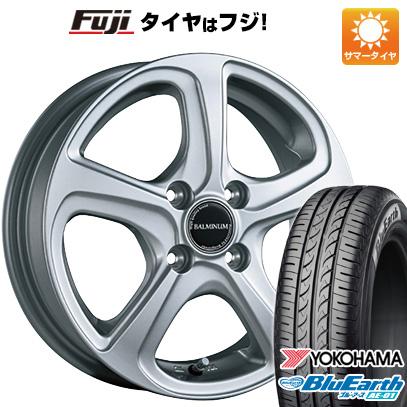 タイヤはフジ 送料無料 N-BOX タントカスタム ワゴンR BRIDGESTONE ブリヂストン バルミナ ZR5 4.5J 4.50-15 YOKOHAMA ブルーアース AE-01 165/55R15 15インチ サマータイヤ ホイール4本セット