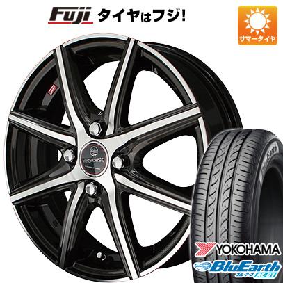 タイヤはフジ 送料無料 KYOHO 共豊 スマック プライム ヴァニッシュ 4.5J 4.50-14 YOKOHAMA ブルーアース AE-01 155/65R14 14インチ サマータイヤ ホイール4本セット