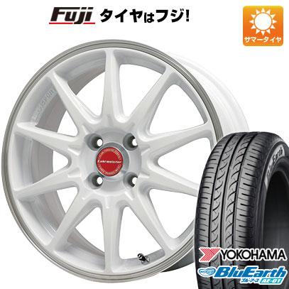 タイヤはフジ 送料無料 LEHRMEISTER レアマイスター LMスポーツRS10(ホワイト/リムポリッシュ) 4.5J 4.50-14 YOKOHAMA ブルーアース AE-01 155/65R14 14インチ サマータイヤ ホイール4本セット