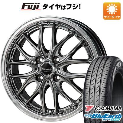 タイヤはフジ 送料無料 MONZA モンツァ ワーウィック ディープランド 6J 6.00-16 YOKOHAMA ブルーアース AE-01 175/60R16 16インチ サマータイヤ ホイール4本セット