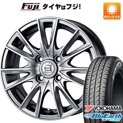 タイヤはフジ 送料無料 TECHNOPIA テクノピア アフロディーテ EF 4.5J 4.50-14 YOKOHAMA ブルーアース AE-01 155/65R14 14インチ サマータイヤ ホイール4本セット