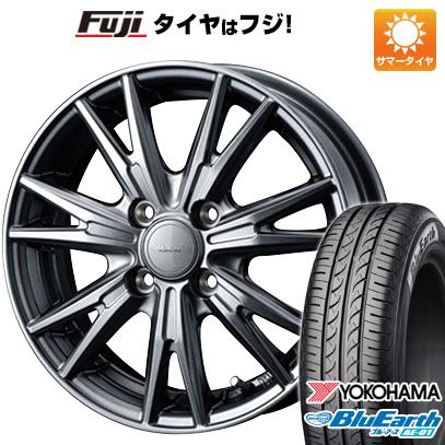 タイヤはフジ 送料無料 N-BOX タントカスタム ワゴンR WEDS ウェッズ ヴェルバ ケヴィン 4.5J 4.50-15 YOKOHAMA ブルーアース AE-01 165/55R15 15インチ サマータイヤ ホイール4本セット