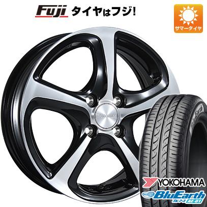 タイヤはフジ 送料無料 BRIDGESTONE ブリヂストン バルミナ Z5 4.5J 4.50-15 YOKOHAMA ブルーアース AE-01 165/55R15 15インチ サマータイヤ ホイール4本セット