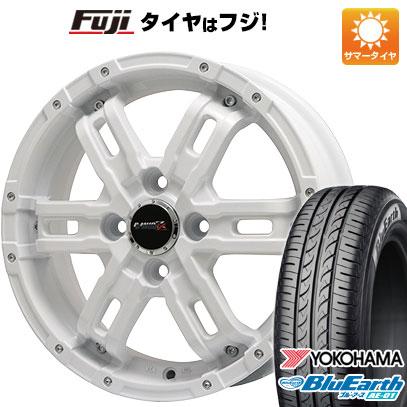 タイヤはフジ 送料無料 BIGWAY ビッグウエイ B-MUD Z(ホワイト) 4.5J 4.50-15 YOKOHAMA ブルーアース AE-01 165/55R15 15インチ サマータイヤ ホイール4本セット