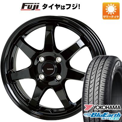 タイヤはフジ 送料無料 HOT STUFF ホットスタッフ ジースピード G-03 4.5J 4.50-14 YOKOHAMA ブルーアース AE-01 165/55R14 14インチ サマータイヤ ホイール4本セット