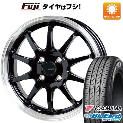 タイヤはフジ 送料無料 HOT STUFF ホットスタッフ ジースピード P-04 4J 4.00-13 YOKOHAMA ブルーアース AE-01 155/70R13 13インチ サマータイヤ ホイール4本セット