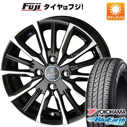 タイヤはフジ 送料無料 KYOHO 共豊 スマック プライム ヴァルキリー 4.5J 4.50-15 YOKOHAMA ブルーアース AE-01 165/55R15 15インチ サマータイヤ ホイール4本セット