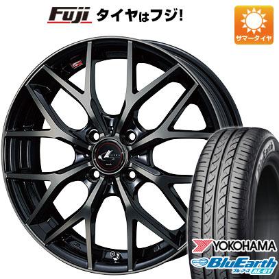 タイヤはフジ 送料無料 WEDS ウェッズ レオニス MX 5.5J 5.50-15 YOKOHAMA ブルーアース AE-01 185/55R15 15インチ サマータイヤ ホイール4本セット