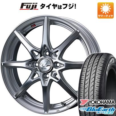 タイヤはフジ 送料無料 ソリオ(MA36S) WEDS ウェッズ レオニス SV 4.5J 4.50-15 YOKOHAMA ブルーアース AE-01 165/65R15 15インチ サマータイヤ ホイール4本セット