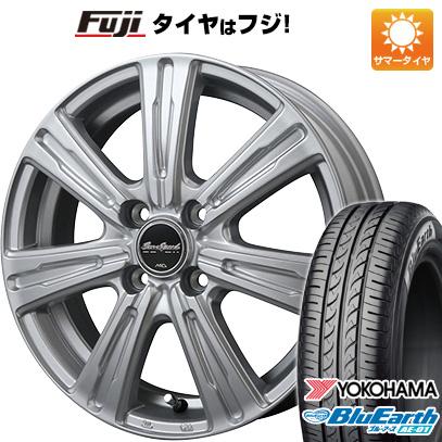 タイヤはフジ 送料無料 MID ユーロスピード C-07 4J 4.00-13 YOKOHAMA ブルーアース AE-01 165/65R13 13インチ サマータイヤ ホイール4本セット