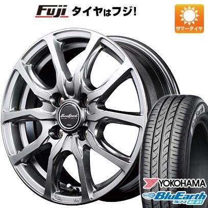 タイヤはフジ 送料無料 MID ユーロスピード G52 4.5J 4.50-14 YOKOHAMA ブルーアース AE-01 155/65R14 14インチ サマータイヤ ホイール4本セット