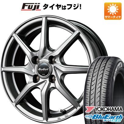 タイヤはフジ 送料無料 MID ユーロスピード G810 4.5J 4.50-15 YOKOHAMA ブルーアース AE-01 165/60R15 15インチ サマータイヤ ホイール4本セット