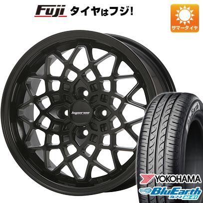 タイヤはフジ 送料無料 MLJ ハイペリオン カルマ 5J 5.00-15 YOKOHAMA ブルーアース AE-01 165/60R15 15インチ サマータイヤ ホイール4本セット
