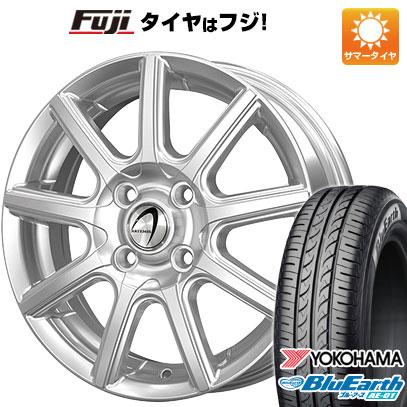 タイヤはフジ 送料無料 TECHNOPIA テクノピア アルテミス NS9 4.5J 4.50-15 YOKOHAMA ブルーアース AE-01 165/55R15 15インチ サマータイヤ ホイール4本セット