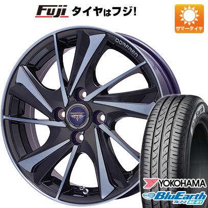 タイヤはフジ 送料無料 TOPY トピー ドルフレン ヴァルネ Limited 4.5J 4.50-15 YOKOHAMA ブルーアース AE-01 165/50R15 15インチ サマータイヤ ホイール4本セット