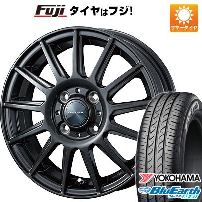 タイヤはフジ 送料無料 ソリオ(MA36S) WEDS ウェッズ ヴェルバ イゴール 4.5J 4.50-15 YOKOHAMA ブルーアース AE-01 165/65R15 15インチ サマータイヤ ホイール4本セット