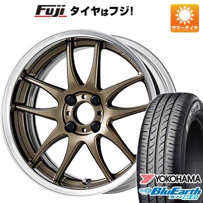 タイヤはフジ 送料無料 WORK ワーク エモーション CR 2P 6J 6.00-16 YOKOHAMA ブルーアース AE-01 175/60R16 16インチ サマータイヤ ホイール4本セット