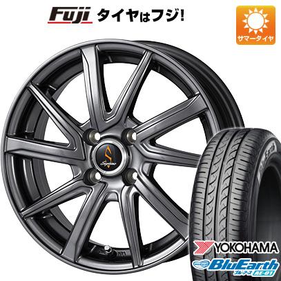 タイヤはフジ 送料無料 WORK ワーク セプティモ G01 ダークグレー 4.5J 4.50-14 YOKOHAMA ブルーアース AE-01 165/55R14 14インチ サマータイヤ ホイール4本セット