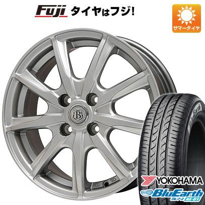 タイヤはフジ 送料無料 BRANDLE ブランドル E05 4.5J 4.50-14 YOKOHAMA ブルーアース AE-01 155/65R14 14インチ サマータイヤ ホイール4本セット