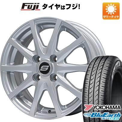 タイヤはフジ 送料無料 N-BOX タントカスタム ワゴンR BRANDLE ブランドル M71 4.5J 4.50-14 YOKOHAMA ブルーアース AE-01 155/65R14 14インチ サマータイヤ ホイール4本セット