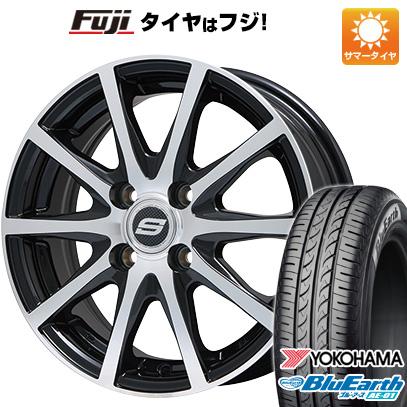タイヤはフジ 送料無料 BRANDLE ブランドル M71BP 4.5J 4.50-15 YOKOHAMA ブルーアース AE-01 165/60R15 15インチ サマータイヤ ホイール4本セット