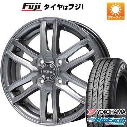 タイヤはフジ 送料無料 BRANDLE ブランドル G61 4J 4.00-13 YOKOHAMA ブルーアース AE-01 155/70R13 13インチ サマータイヤ ホイール4本セット