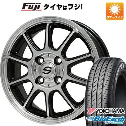 タイヤはフジ 送料無料 BRANDLE ブランドル Z01B 4J 4.00-13 YOKOHAMA ブルーアース AE-01 165/65R13 13インチ サマータイヤ ホイール4本セット