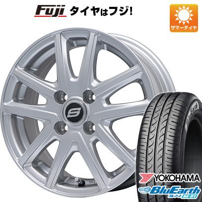タイヤはフジ 送料無料 N-BOX タントカスタム ワゴンR BRANDLE ブランドル M61 4.5J 4.50-14 YOKOHAMA ブルーアース AE-01 155/65R14 14インチ サマータイヤ ホイール4本セット