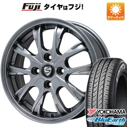 タイヤはフジ 送料無料 ソリオ(MA36S) BRANDLE ブランドル 486 5J 5.00-15 YOKOHAMA ブルーアース AE-01 165/65R15 15インチ サマータイヤ ホイール4本セット