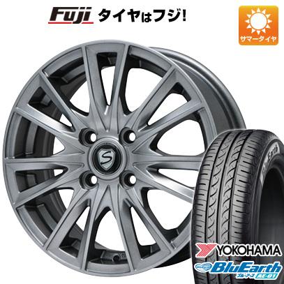 タイヤはフジ 送料無料 N-BOX タントカスタム ワゴンR BRANDLE ブランドル 485 4.5J 4.50-14 YOKOHAMA ブルーアース AE-01 155/65R14 14インチ サマータイヤ ホイール4本セット