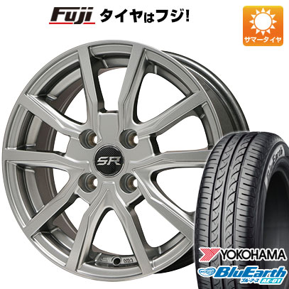 タイヤはフジ 送料無料 BRANDLE ブランドル N52 5.5J 5.50-15 YOKOHAMA ブルーアース AE-01 185/55R15 15インチ サマータイヤ ホイール4本セット