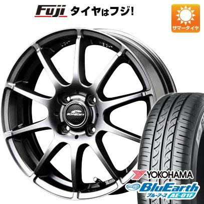 タイヤはフジ 送料無料 ソリオ(MA26S) MID シュナイダー スタッグ 4.5J 4.50-14 YOKOHAMA ブルーアース AE-01F 165/70R14 14インチ サマータイヤ ホイール4本セット