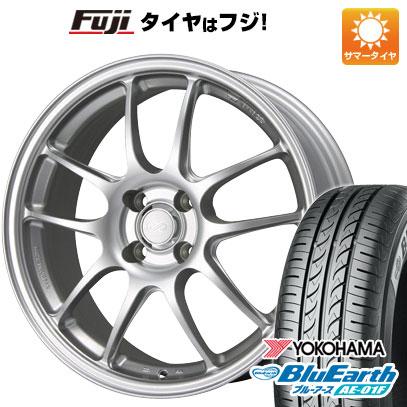 タイヤはフジ 送料無料 ENKEI エンケイ PF01 6.5J 6.50-15 YOKOHAMA ブルーアース AE-01F 175/65R15 15インチ サマータイヤ ホイール4本セット