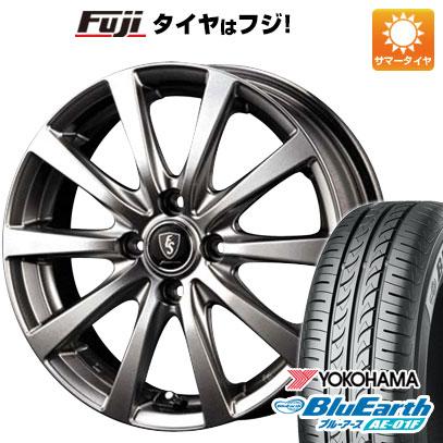 タイヤはフジ 送料無料 MID ユーロスピード G10 5.5J 5.50-15 YOKOHAMA ブルーアース AE-01F 185/65R15 15インチ サマータイヤ ホイール4本セット