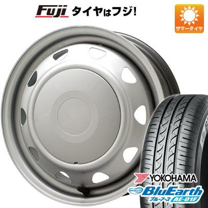 タイヤはフジ 送料無料 ELBE エルベ オリジナル スチール 5.5J 5.50-15 YOKOHAMA ブルーアース AE-01F 185/65R15 15インチ サマータイヤ ホイール4本セット