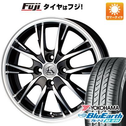 タイヤはフジ 送料無料 ソリオ(MA26S) TECHNOPIA テクノピア カシーナ XV-5 4.5J 4.50-14 YOKOHAMA ブルーアース AE-01F 165/70R14 14インチ サマータイヤ ホイール4本セット