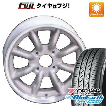 タイヤはフジ 送料無料 WATANABE ワタナベ エイトスポーク 7J 7.00-16 YOKOHAMA ブルーアース AE-01F 185/55R16 16インチ サマータイヤ ホイール4本セット