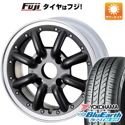 タイヤはフジ 送料無料 WATANABE ワタナベ New RS8 6J 6.00-15 YOKOHAMA ブルーアース AE-01F 185/65R15 15インチ サマータイヤ ホイール4本セット