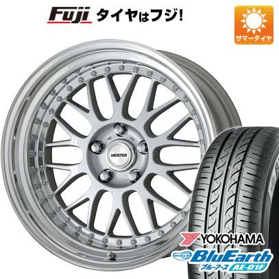 タイヤはフジ 送料無料 ノート WORK ワーク マイスター M1 3P 6.5J 6.50-16 YOKOHAMA ブルーアース AE-01F 195/55R16 16インチ サマータイヤ ホイール4本セット