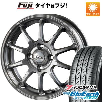 タイヤはフジ 送料無料 ソリオ(MA26S) INTER MILANO インターミラノ LCZ 010 4.5J 4.50-14 YOKOHAMA ブルーアース AE-01F 165/70R14 14インチ サマータイヤ ホイール4本セット