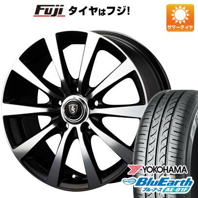 タイヤはフジ 送料無料 シエンタ 5穴/100 MID ユーロスピード BL-10 6J 6.00-15 YOKOHAMA ブルーアース AE-01F 185/60R15 15インチ サマータイヤ ホイール4本セット
